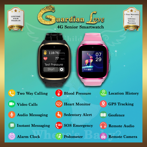 Guardian Angel Love 4G Senior Smartwatch