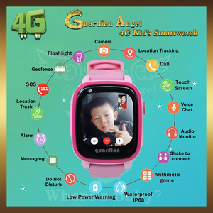 Guardian Angel Ai 4G Kids Smartwatch Pink